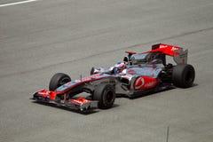 Jenson Button à la course de formule 1 malaisienne image libre de droits