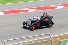 Jenson Button. Of McLaren-Mercedes  on parade of pilots Royalty Free Stock Photography