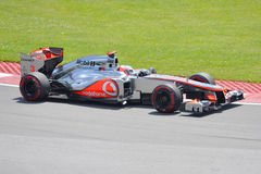 Jenson Button in 2012 F1 Canadian Grand Prix Stock Images