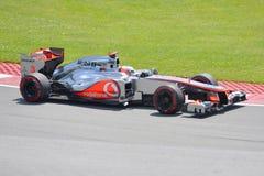 Jenson Button in 2012 F1 Canadian Grand Prix. June 10, 2012 - Jenson Button of Vodafone McLaren Mercedes in 2012 Formula 1 Canadian Grand Prix in Circuit Gilles Stock Images