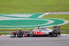 Jenson Button alla corsa di Formula 1 Fotografie Stock