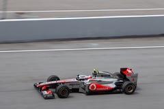 Jenson Button auf einer großen Geschwindigkeit gerade Stockbilder