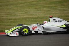 Jenson Button beim britischen großartigen Prix Lizenzfreie Stockfotos