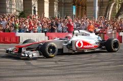 Jenson Button in Boedapest Royalty-vrije Stock Afbeeldingen