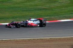 Jenson Button britisches großartiges Prix 2010 Lizenzfreie Stockbilder