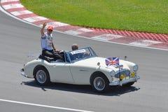 Jenson Button in de Canadese Grand Prix van 2012 F1 Stock Fotografie