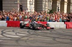 Jenson Button em Budapest imagem de stock