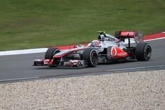 Jenson Button (GBR) dans son McLaren en Allemagne photographie stock