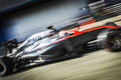 Jenson Button Jerez 2015 Imágenes de archivo libres de regalías