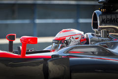 Jenson Button Jerez 2015 Royaltyfri Foto