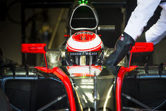 Jenson Button Jerez 2015 Royalty-vrije Stock Foto's