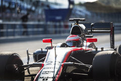 Jenson Button Jerez 2015 Royaltyfri Bild
