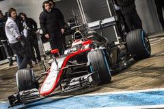 Jenson Button Jerez 2015 stockfotos