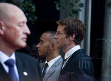 Jenson Button and Lewis Hamilton Stock Photography