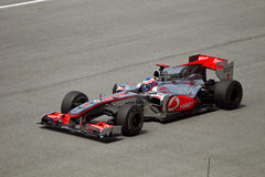 Jenson Button at the Malaysian formula 1 race Royalty Free Stock Image