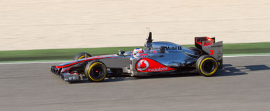 Jenson Button of McLaren Royalty Free Stock Images