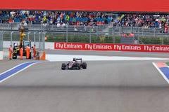Jenson Button of McLaren Honda. Formula One. Sochi Russia Stock Images