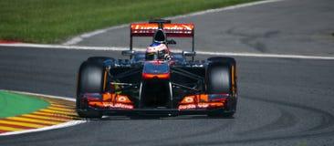 Jenson Button McLaren. Jenson Button during Sunday's race at Spa, Belgium Stock Photo