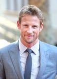 Jenson Button, précipitation Images libres de droits