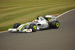 Jenson Button Practice Silverstone F1 2009. Jenson Buttoon in his Brawn F1 during Friday's practice at Silverstone, UK for the British Grand prix of 2009 stock photography