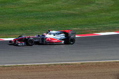 Jenson Button Prix grand britannique 2010 Images libres de droits