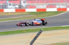Jenson Button Prix magnífico británico 2010 Imágenes de archivo libres de regalías