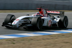 Jenson Button, saison de Formula1 2005. photographie stock