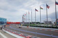 Jenson Button von McLaren Honda Formel 1 Sochi Russland lizenzfreie stockbilder