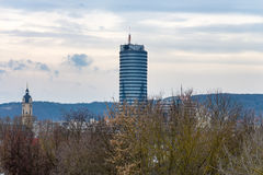 Jentower in the center of Jena Stock Photo