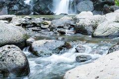 Jeongbang waterfall in Jeju Island. South Korea Royalty Free Stock Photography