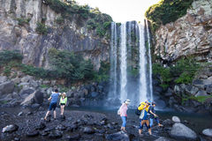 Jeongbang Waterfall, Jeju, Korea 1 Royalty Free Stock Photo