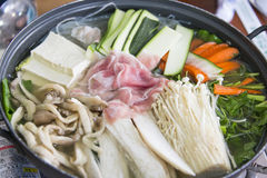 Jeongol Mixed Mushroom Hot Pot Royalty Free Stock Photography