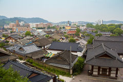 Korean traditional architecture in Jeonju Hanok village stock photography