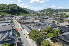 Jeonju Hanok Village, popular tourist attraction with Korean traditional houses in South Korea stock photo