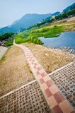 Jeonju Sydkorea flod Arkivfoton