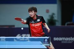 JEOUNG Youngsik from Korea backhand Royalty Free Stock Images