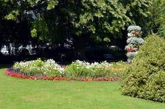 Jephson-Gärten in Leamington-Badekurort Stockfotos