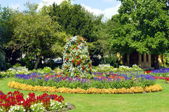 Jephson Gardens in Leamington Spa, Warwickshire. Flower beds in Jephson Gardens Leamington Spa, Warwickshire Royalty Free Stock Photography