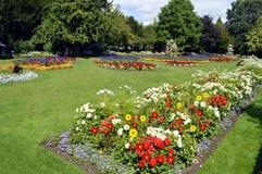 Jephson trädgårdar i Leamington Spa Arkivbild