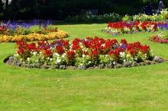 Jephson trädgårdar i Leamington Spa, Warwickshire Arkivfoton