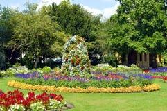 Jephson trädgårdar i Leamington Spa, Warwickshire Royaltyfri Fotografi