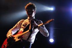 Jeppe Kjellberg, guitarist of the Scandinavian band WhoMadeWho Stock Images