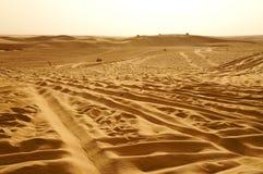 Jepps на дюнах пустыни Сахары Стоковая Фотография