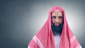 Jeque árabe islámico con la barba Imagen de archivo