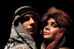Jeque y su esposa Fotos de archivo