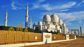 Jeque Zayed Grand Mosque en Abu Dhabi Imagen de archivo libre de regalías