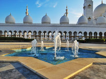 Jeque Zayed Grand Mosque en Abu Dhabi Imagen de archivo