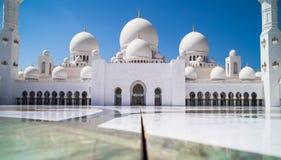 Jeque Zayed Mosque de Abu Dhabi Imagenes de archivo