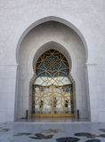 Jeque Zayed Mosque Door Imágenes de archivo libres de regalías