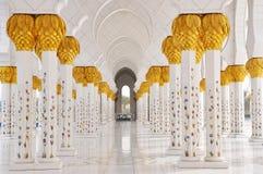 Jeque Zayed Mosque en Abu Dhabi Imagen de archivo libre de regalías